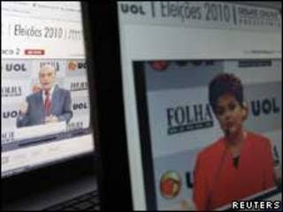 Serra e Dilma no debate online