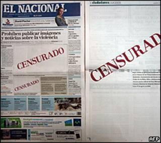 Jornal El Nacional nesta quarta-feira
