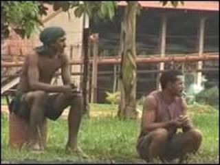 Trabajadores de una hacienda en Pará, Brasil.