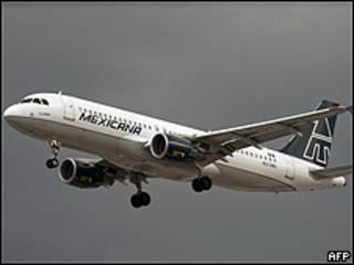 Avión de Mexicana de Aviación