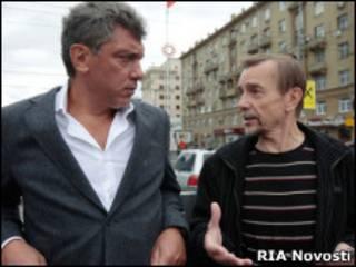Борис Немцов и Лев Пономарев