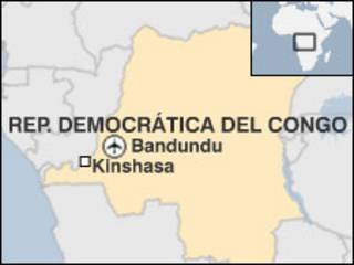 Mapa de R.D. del Congo