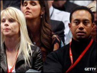 Тайгер Вудс с бывшей женой