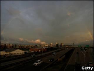 Vista de Nova Orleans no domingo