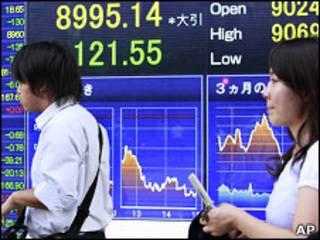Indicadores cambiarios en Tokio