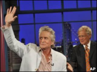 Michael Douglas en el programa conducido por David Letterman