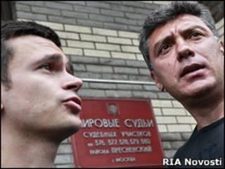 Илья Яшин и Борис Немцов