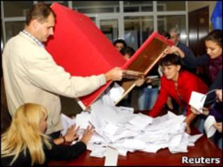 Подсчет голосов в Молдавии