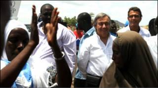 Madaxa  hay'adda qaxootiga ee qaramadda midoobay UNHCR Antonio Guterres