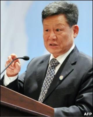 Sha Zukang durante um discurso em Jacarta em agosto