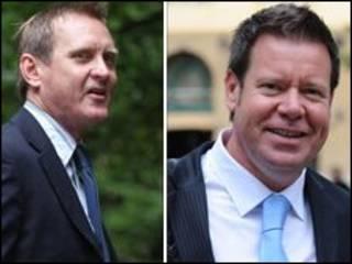 Gage e Woodforth, acusados da venda ilegal de sêmen pela web (Foto: PA)