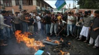 कश्मीर में प्रदर्शन (फ़ाइल फ़ोटो)