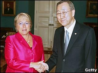Michelle Bachelet y Ban Ki Moon