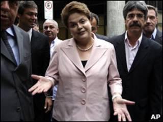 Dilma Rousseff durante evento de campanha no Rio de Janeiro