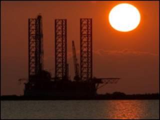 Plataforma no golfo do México
