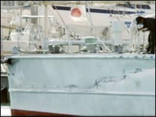Tàu Nhật bị hư hại trong vụ đụng độ
