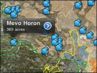 Aplicación de ubicación de asentamientos judíos (foto cortesía APN)