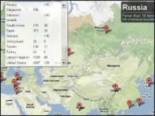 Карта цензуры Google