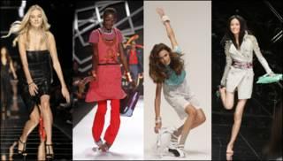 Modelos se tropiezan en Milán, Nueva York y Londres /  Reuters, AP y PA