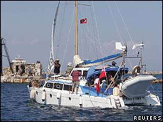 O catamarã Irene está a caminho da Faixa de Gaza (Reuters)