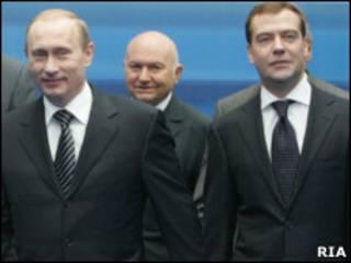 Путин, Лужков, Медведев