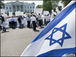 Израильский флаг возле Белого дома