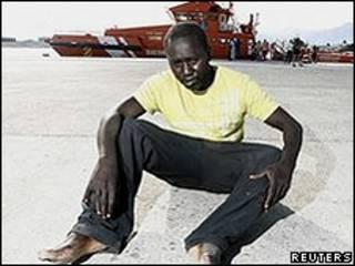 Африканский мигрант