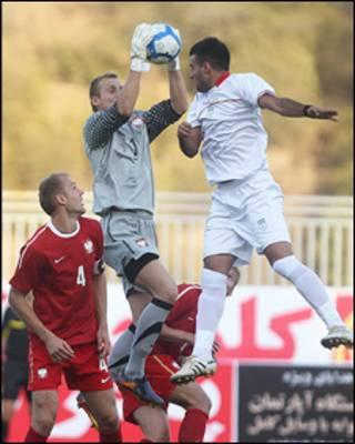 بازی تیم های امید ایران و لهستان، عکس از مهر
