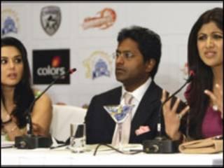 प्रीति ज़िंटा और शिल्पा शेट्टी के साथ ललित मोदी