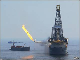 Plataforma petrolera (foto archivo)
