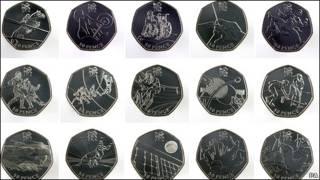 2012伦敦奥运会及残奥会面值50便士纪念硬币