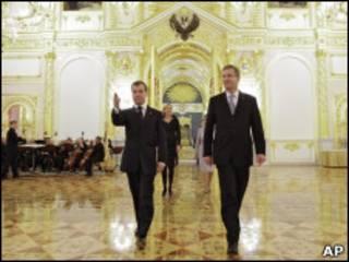 Президенты России и Германии