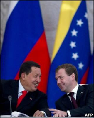 Уго Чавес и Дмитрий Медведев