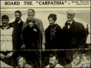 "Спасшиеся пассажиры ""Титаника"""