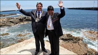 Evo Morales y Alan Garcia