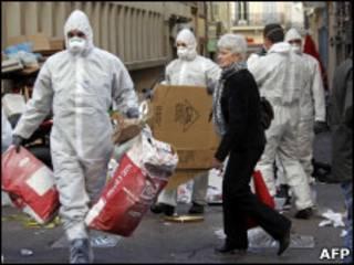 Уборщики на улицах Марселя