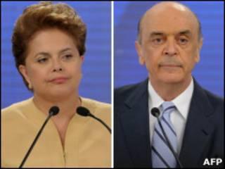 Dilma Rousseff e José Serra