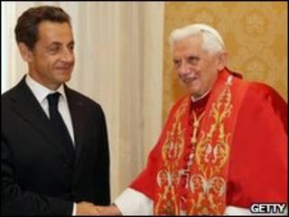 Папа Римский и Николя Саркози