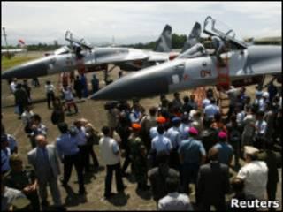 Истребители Су-27 в Индонезии