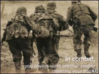 Листовка с изображением солдат вермахта