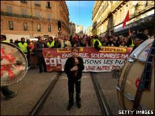 Protesto em Marselha contra reforma previdenciária