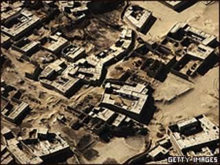 Vista aérea da província de Paktika (arquivo)