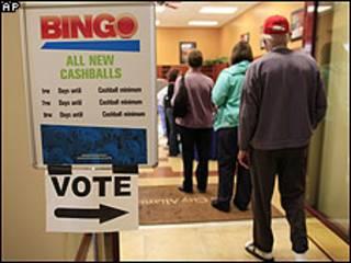 Votación anticipada en Las Vegas.