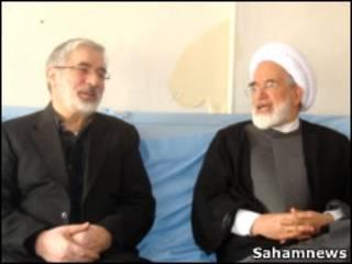 مهدی کروبی و میرحسین موسوی