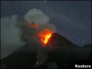 Núi lửa Merapi tại Indonesia