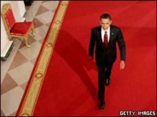 Президент Барак Обама перед пресс-конференцией
