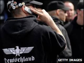 Участник неонацистской группировки