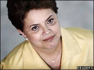 A presidente eleita, Dilma Rousseff