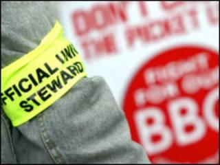 Funcionário da BBC em greve