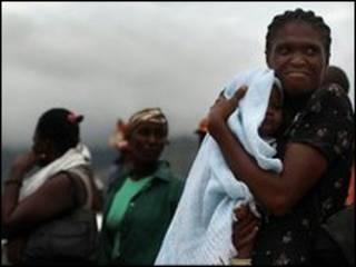 Desabrigados no Haiti